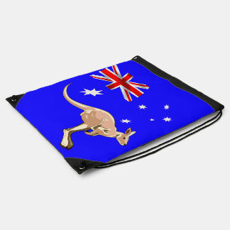 Australian flag drawstring bag