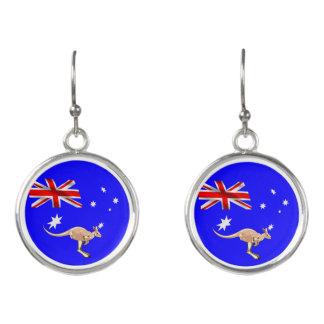 Australian flag earrings