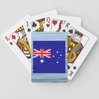 Australian Flag Floating on water Card Deck
