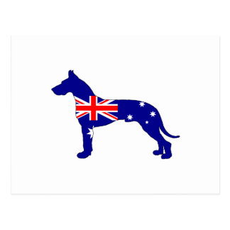 Australian Flag - Great Dane Postcard
