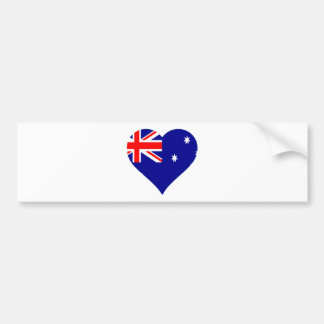 Australian Flag Heart Bumper Sticker