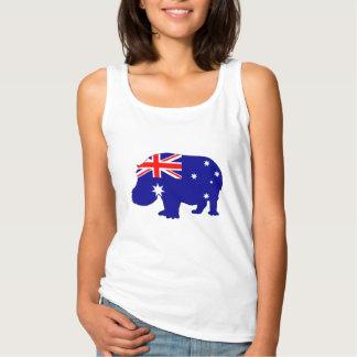 Australian Flag - Hippopotamus Singlet