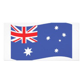 australian flag icon photo greeting card