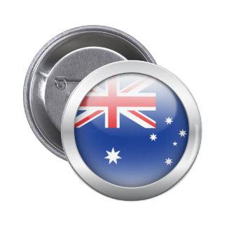Australian Flag in Orb 6 Cm Round Badge