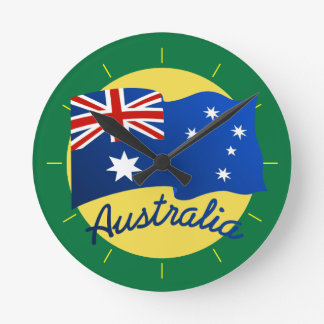 Australian flag in the wind clocks