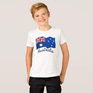 Australian flag in the wind T-Shirt