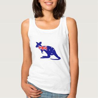 Australian Flag - Kangaroo Singlet