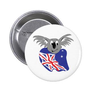 australian flag koala bear design 6 cm round badge