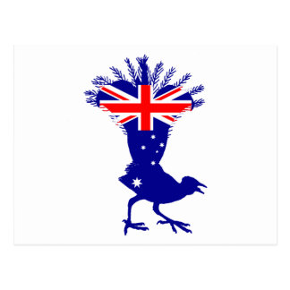 Australian Flag - Lyrebird Postcard