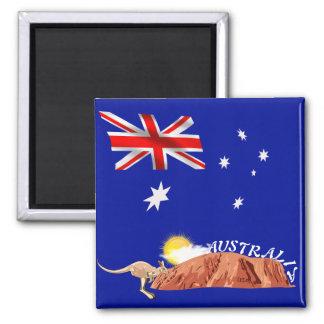Australian flag magnet