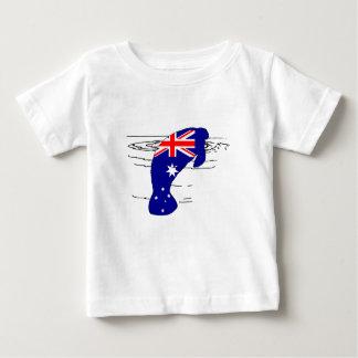Australian Flag - Manatee Baby T-Shirt