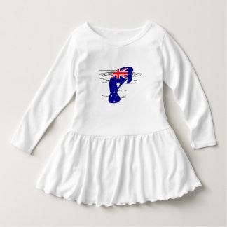 Australian Flag - Manatee Dress