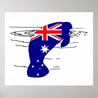 Australian Flag - Manatee Poster