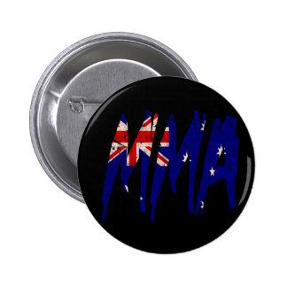 Australian Flag MMA 6 Cm Round Badge