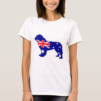 Australian Flag - Newfoundland Dog T-Shirt