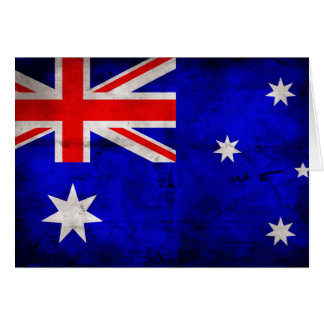 Australian Flag Note Card