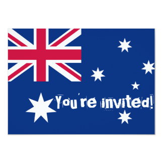 Australian Flag Party Invites