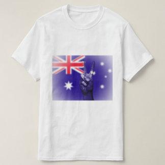 Australian Flag Peace Sign - Patriotic T-Shirt