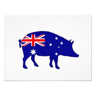 Australian Flag - Pig Photographic Print