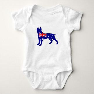 Australian Flag - Pit Bull Terrier Baby Bodysuit