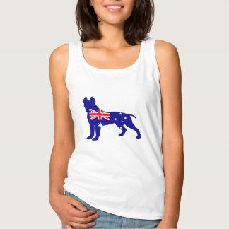 Australian Flag - Pit Bull Terrier Singlet