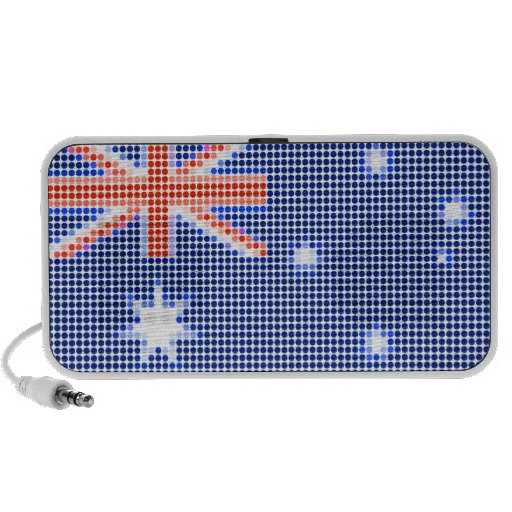 Australian flag polka dots mp3 speaker