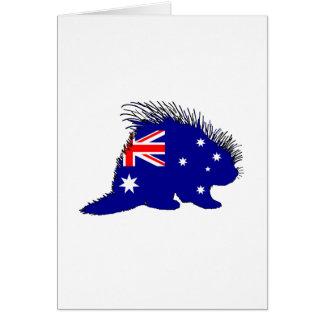Australian Flag - Porcupine Card