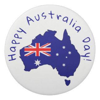 Australian flag & proud Aussie - eraser