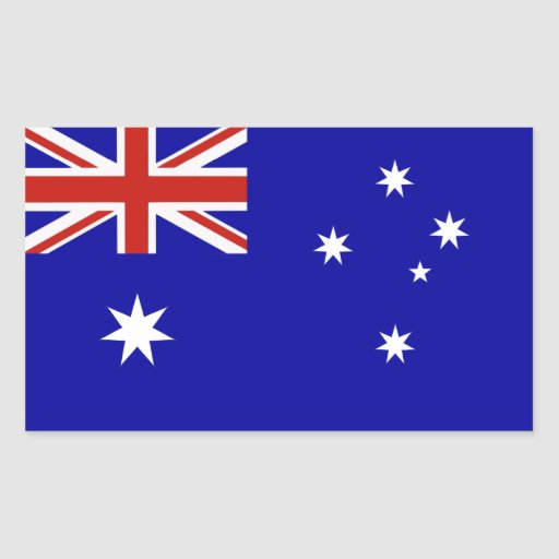 Wedding Gift Experiences Australia : Australian flag rectangular sticker Zazzle