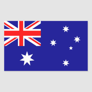 Australian Flag Rectangular Sticker