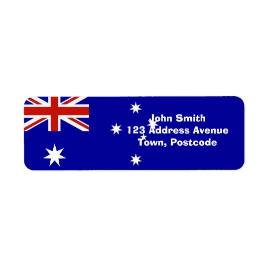 Australian flag return address label