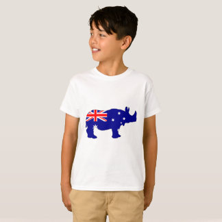 Australian Flag - Rhinoceros T-Shirt
