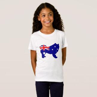 Australian Flag - Samoyed T-Shirt