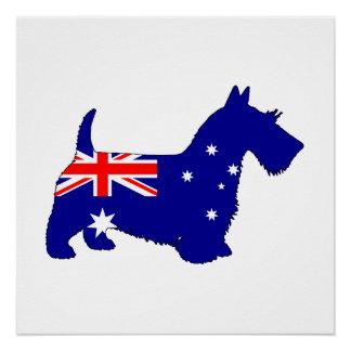 Australian Flag - Scottish Terrier