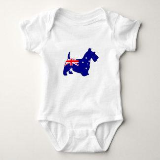 Australian Flag - Scottish Terrier Baby Bodysuit