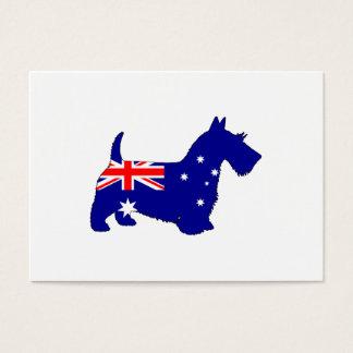 Australian Flag - Scottish Terrier Business Card