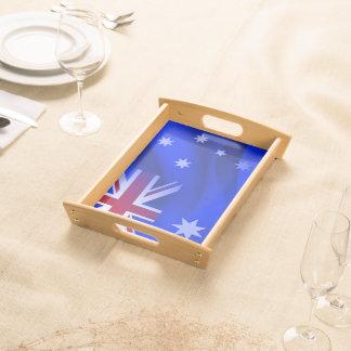 Australian flag serving tray