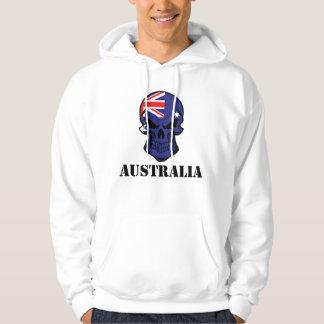 Australian Flag Skull Australia Hoodie