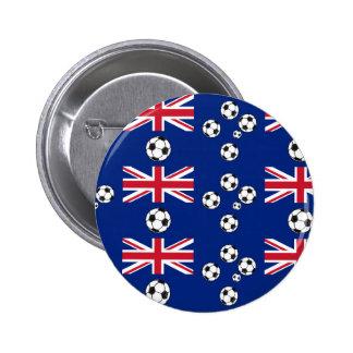 Australian Flag Soccer balls 6 Cm Round Badge