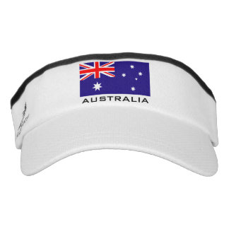 Australian flag sports sun visor cap hat