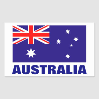 Australian flag stickers | personalizable text