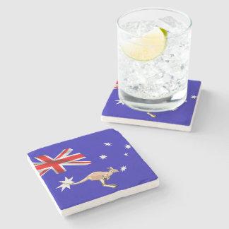 Australian flag stone coaster