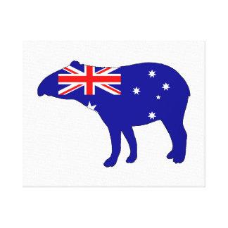 Australian Flag - Tapir Canvas Print