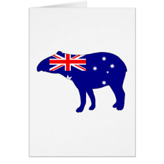 Australian Flag - Tapir Card