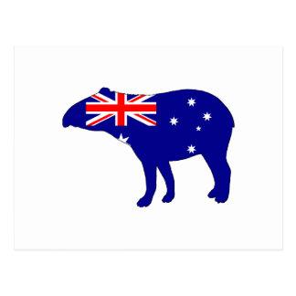Australian Flag - Tapir Postcard