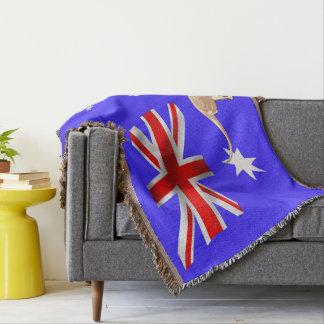 Australian flag throw blanket