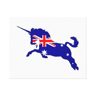 Australian Flag - Unicorn Canvas Print