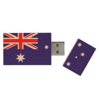Australian flag USB pendrive flash drive Wood USB 2.0 Flash Drive