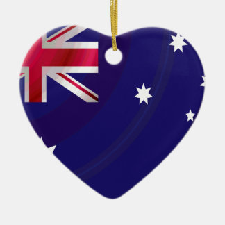 AUSTRALIAN FLAG WAVY CERAMIC ORNAMENT