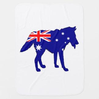 Australian Flag - Wolf Receiving Blankets